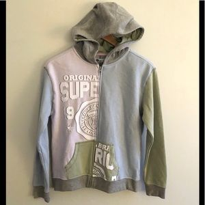 [Epic Threads] colorblock zip up hoodie NWT!!
